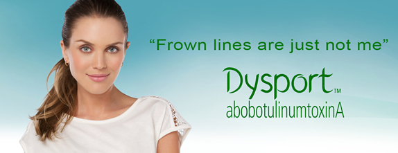 Dysport is used to improve the look of moderate to severe frown lines without changing the look of your whole face.