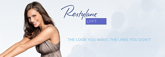"Restylane Lyft provides lift to ""sagging"" cheeks & correct those lines & wrinkles on the sides of your nose & mouth."
