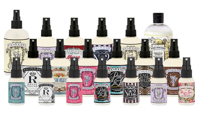 When spritzing with Poo-Pourri, its natural essential oils create a film on the water, creating a barrier to trap odor.